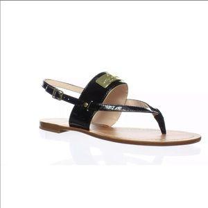 KATE SPADE Cassandra Black Thong Sandals 6 NWOB